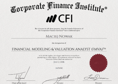 CFI - Financial Modeling & Valuation Analyst