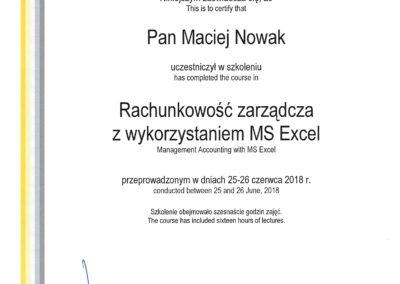 EY - Rachunkowość zarządcza z wykorzystaniem MS Excel